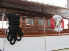 """The black mooring line seemed at least 3"""" thick"""